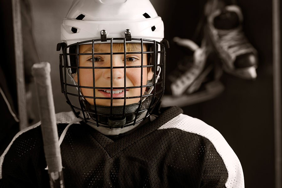 Okanagan Hockey Community Foundation Young Hockey Player