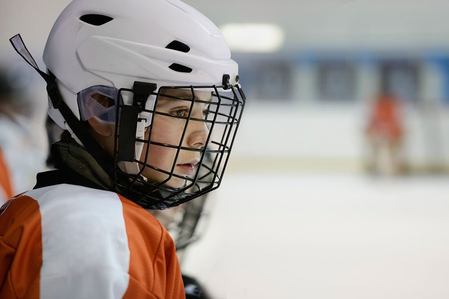 Okanagan Hockey Community Foundation Youth Hockey Player